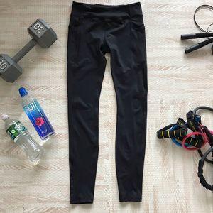 Kyodan Black Pocket Leggings W Zipper